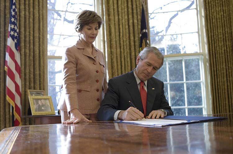 George W. Bush Laura Bush